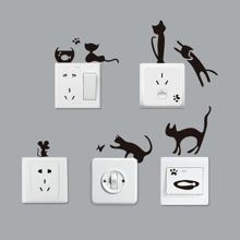 Schalter Aufkleber mit Katze Muster