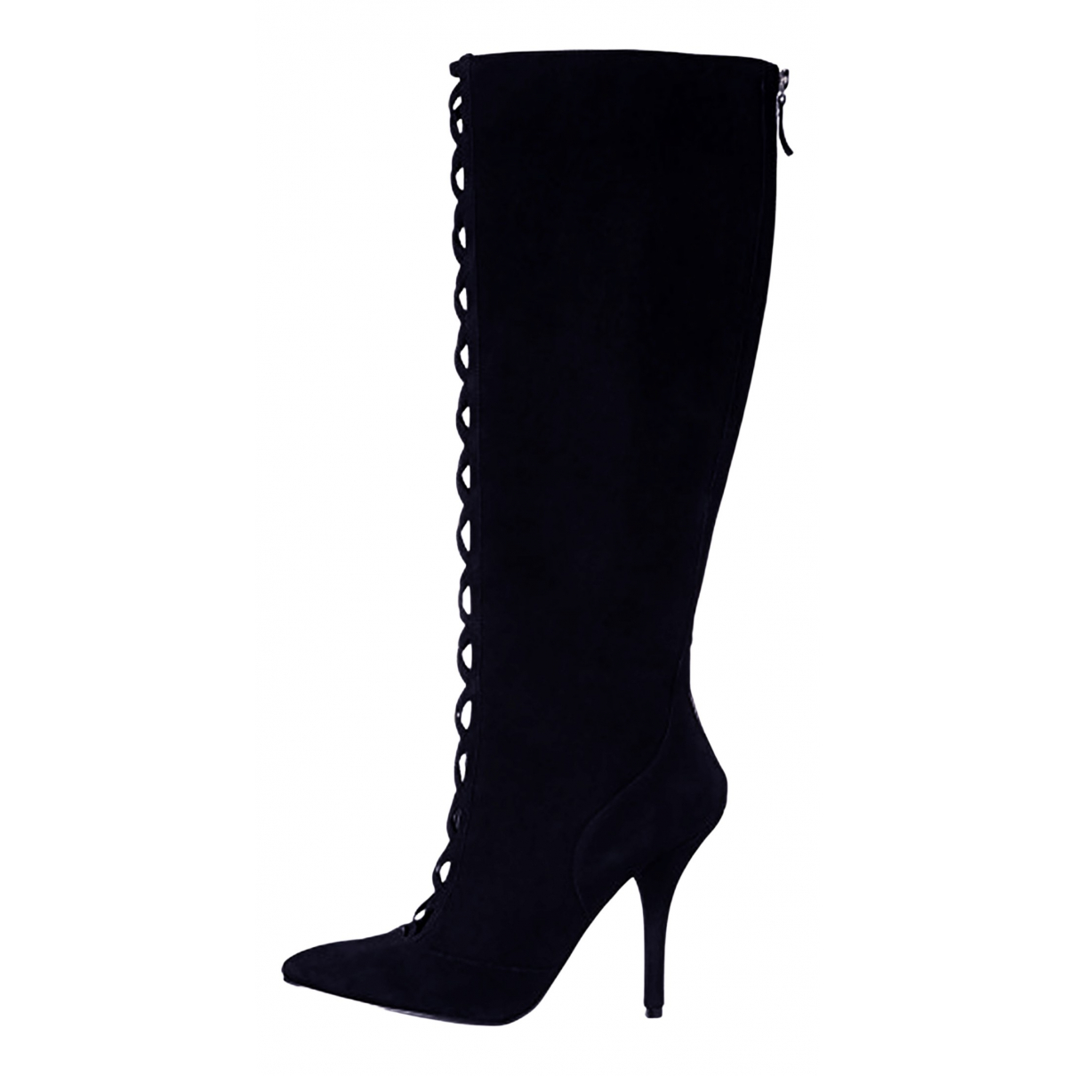 Nine West N Black Suede Boots for Women 37.5 EU