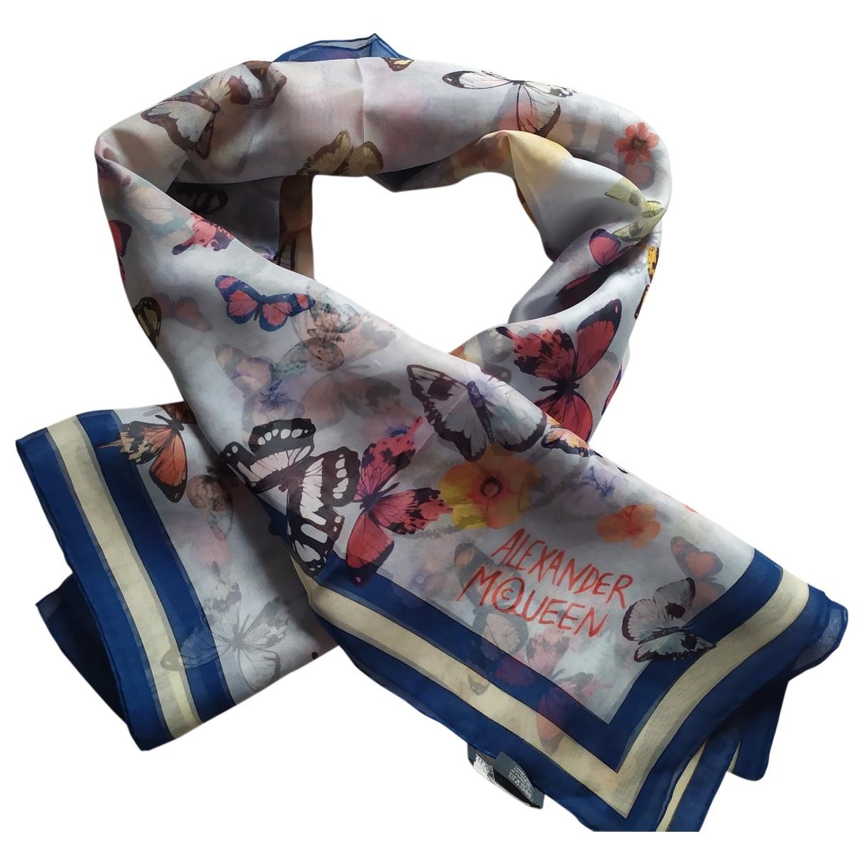 Alexander Mcqueen \N Blue Silk scarf for Women \N