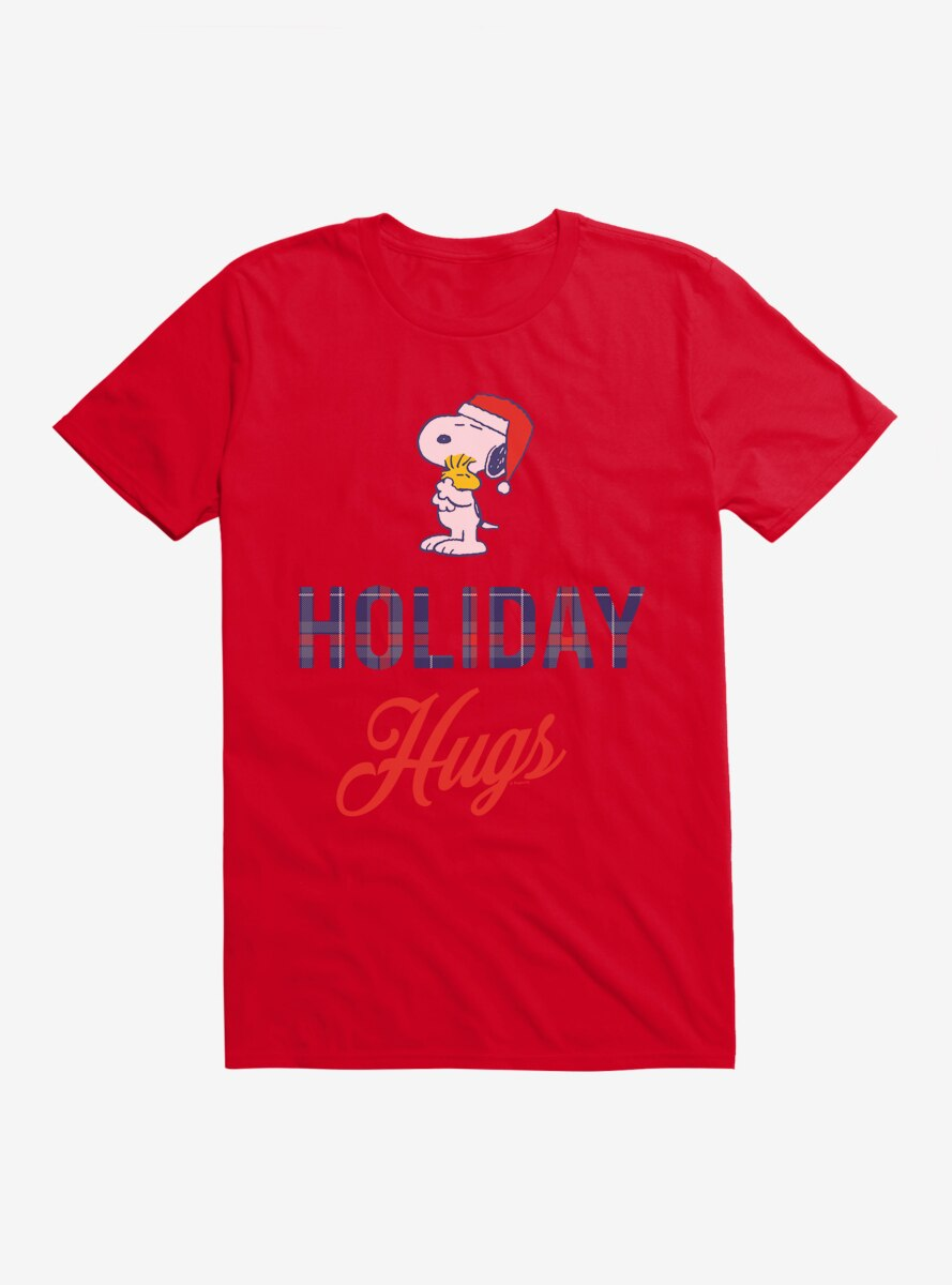 Peanuts Warm Wishes Snoopy Holiday Hugs T-Shirt