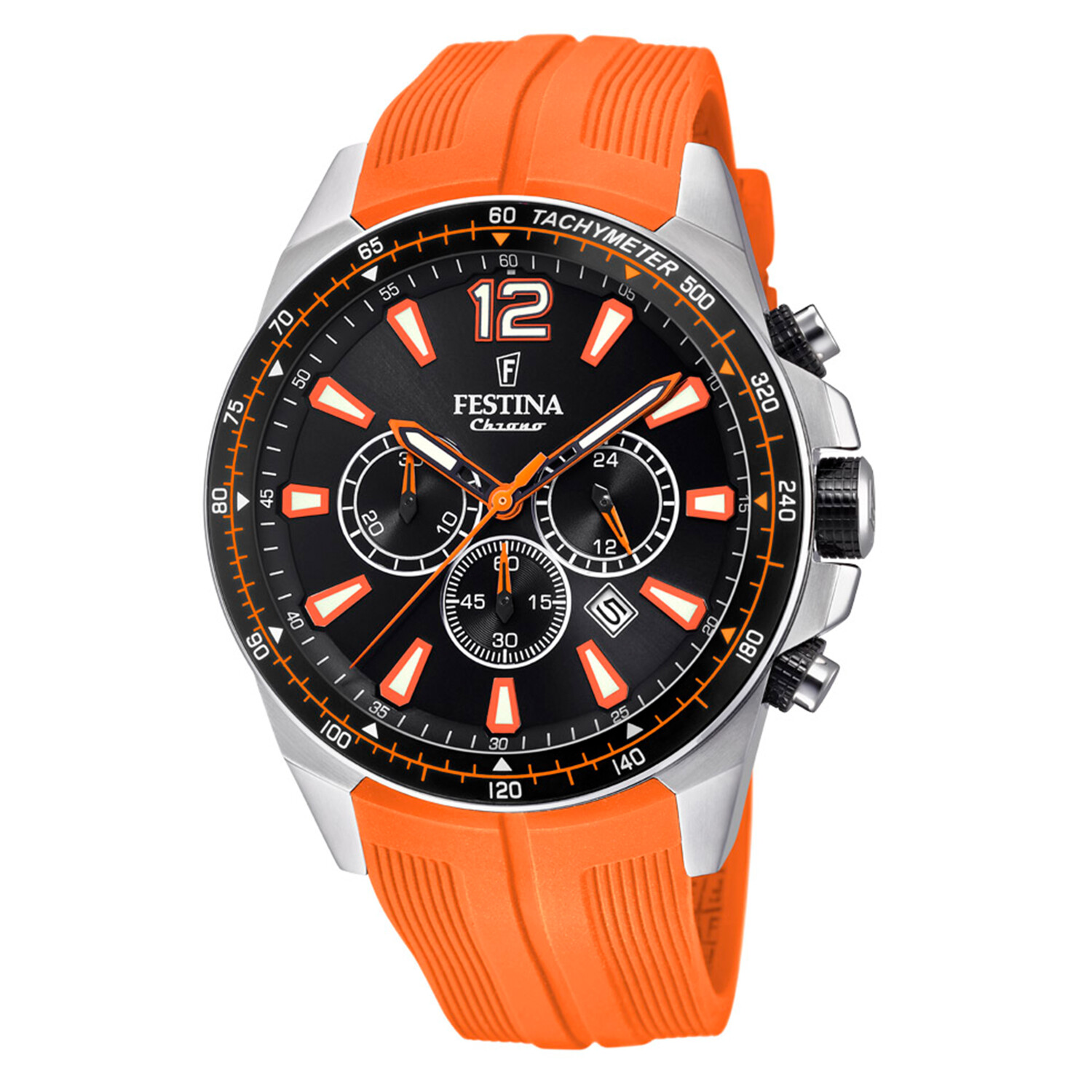 Festina Men's The Originals F20376-5F37 Orange Silicone Quartz Fashion Watch