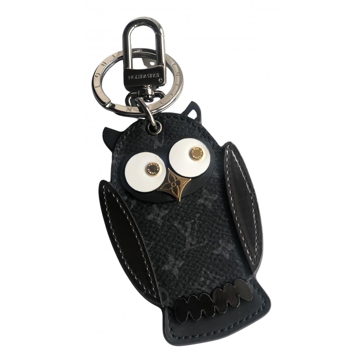 Louis Vuitton \N Taschenschmuck in  Grau Leder