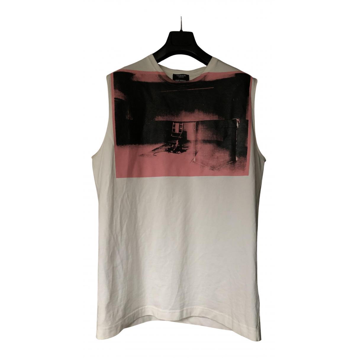 Calvin Klein 205w39nyc \N T-Shirts in  Weiss Baumwolle