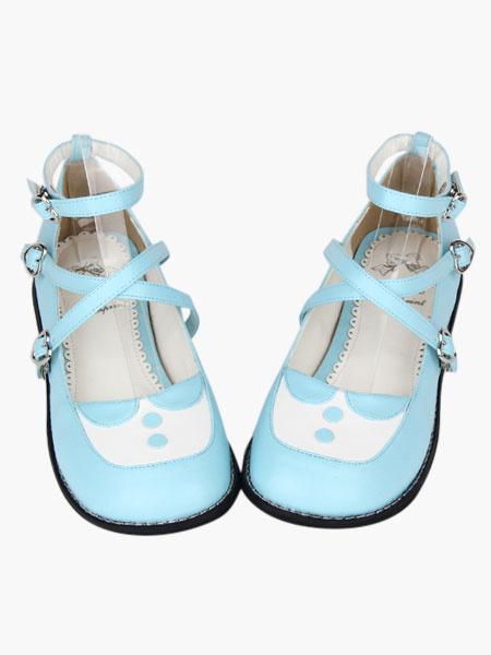 Milanoo Round Toe Criss-Cross Platform Lolita Shoes