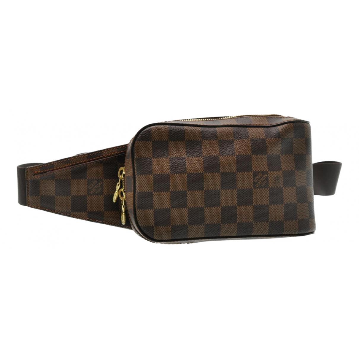 Louis Vuitton - Pochette Geronimo pour femme en toile - marron