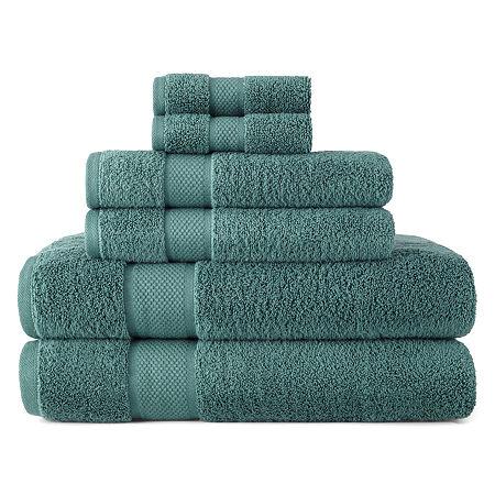 Liz Claiborne MicroCotton 6-pc. Bath Towel Set, One Size , Green