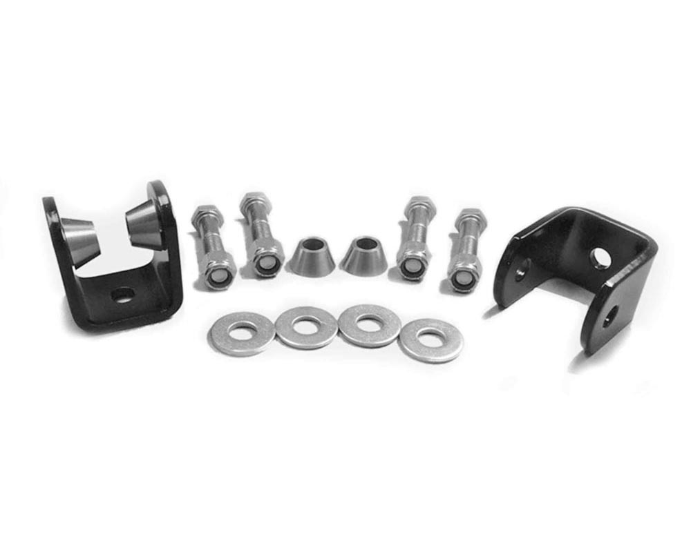 Steinjager J0015472 Drop Clevis Kits (Without End Links) Sway Bar End Links 5/8 Bore Clevises are Black Powdercoated Includes Misalignment Spacers Inc