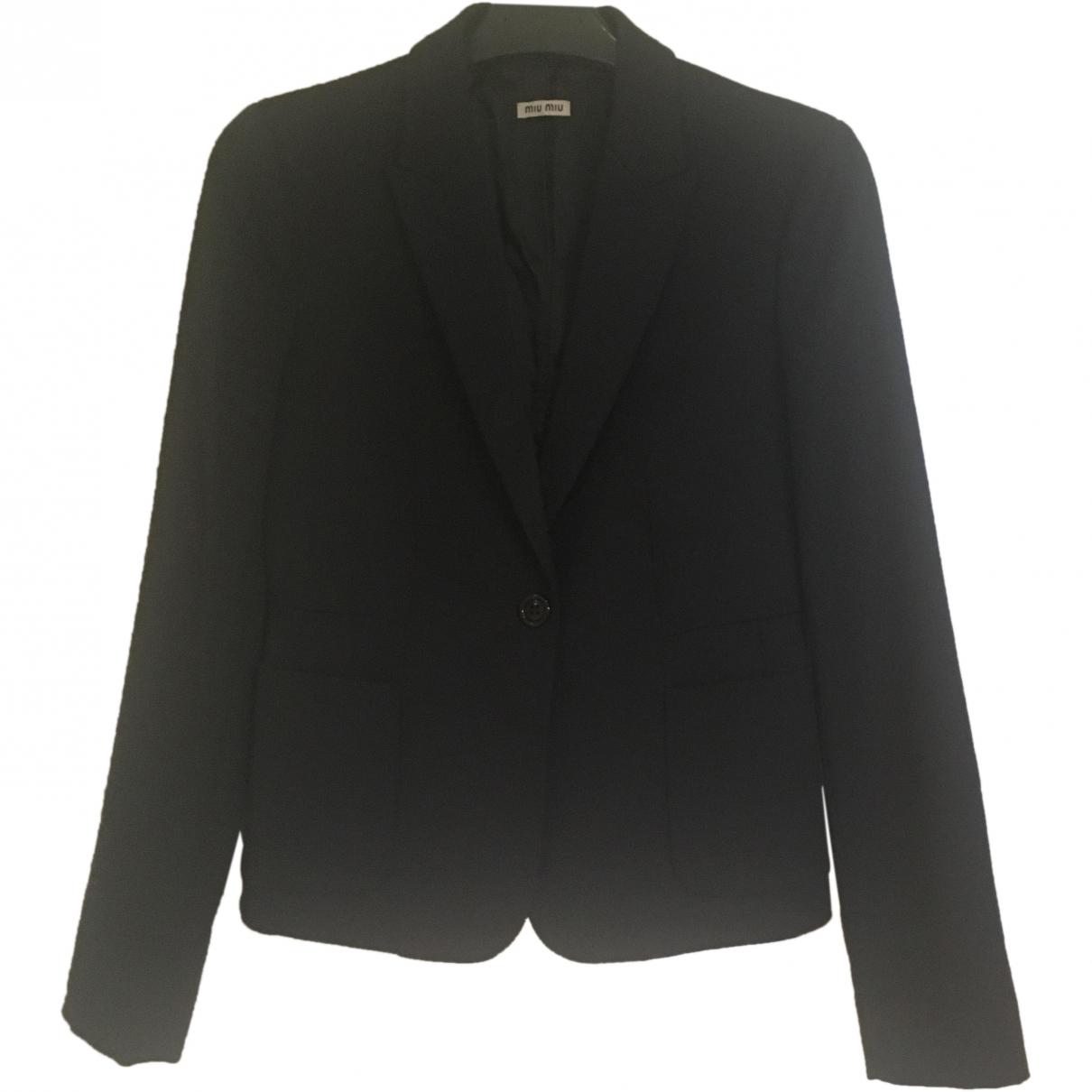 Miu Miu \N Navy Wool jacket for Women 38 IT