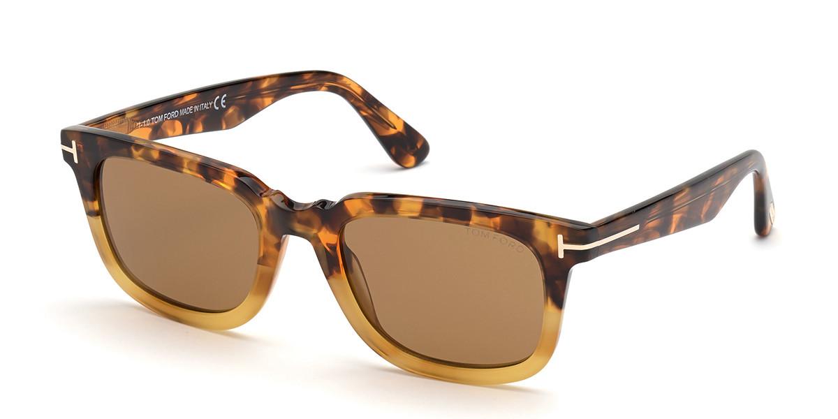 Tom Ford FT0817 DARIO 55E Men's Sunglasses Tortoise Size 51