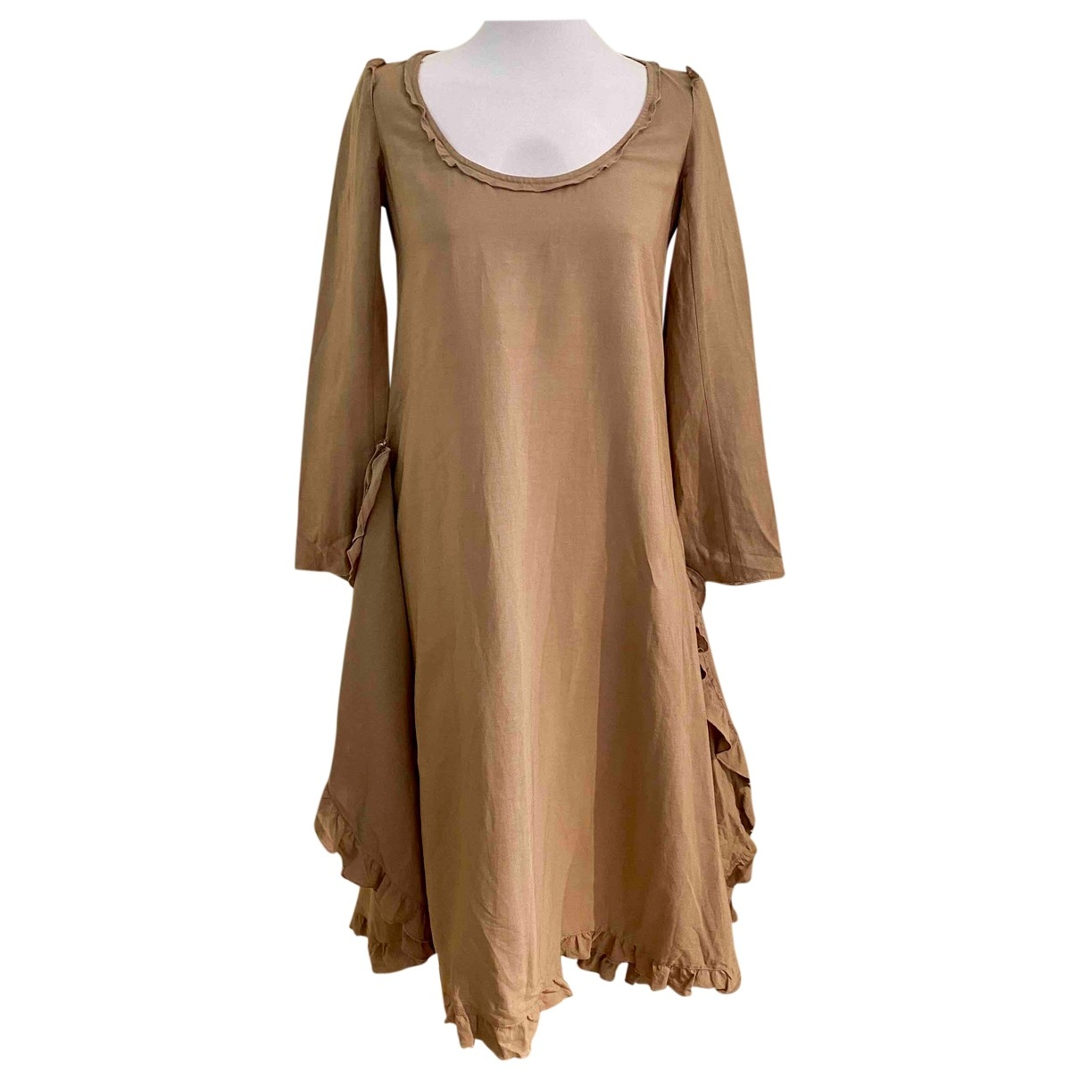 Sonia Rykiel \N Kleid in  Braun Leinen