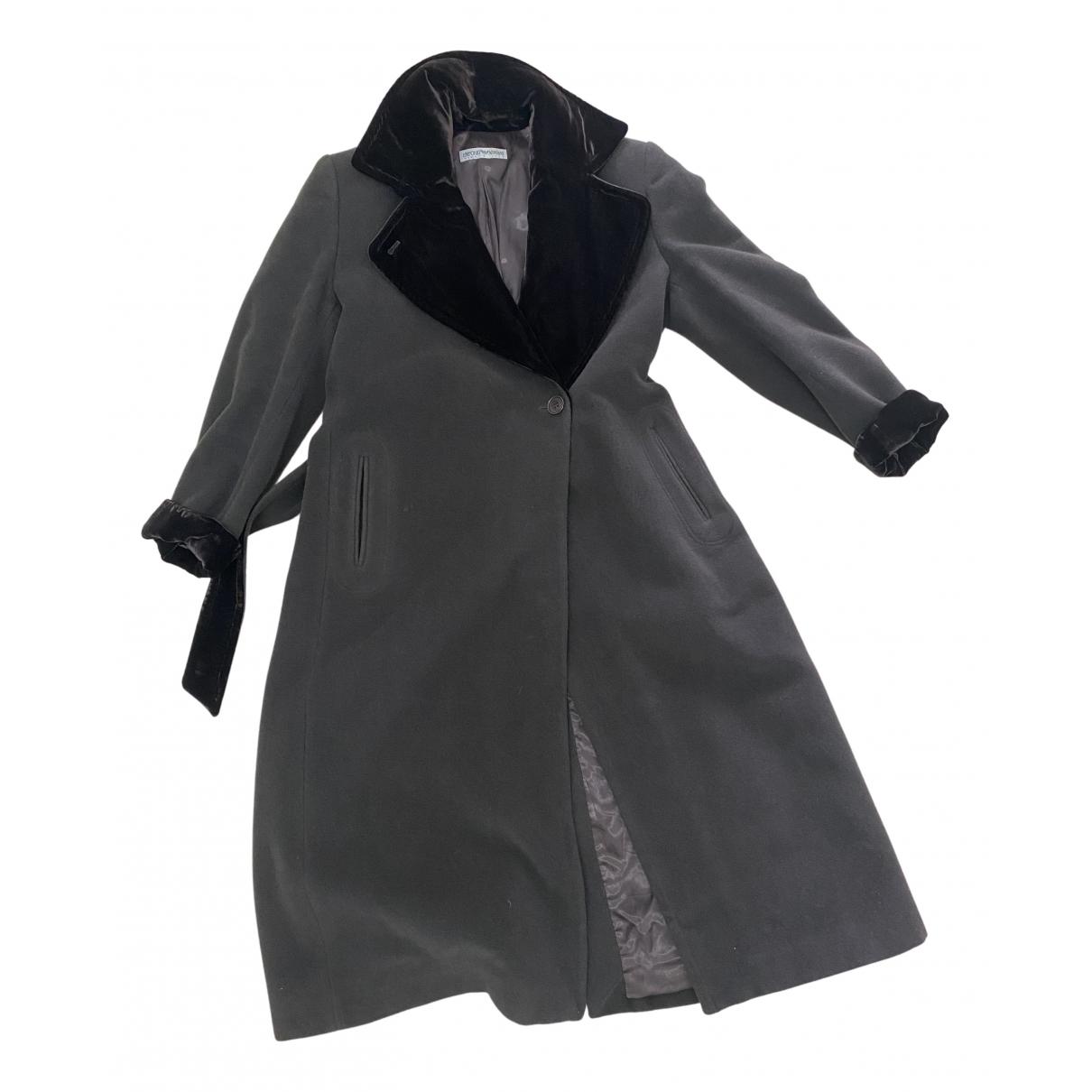 Emporio Armani N Brown Wool coat for Women 42 FR