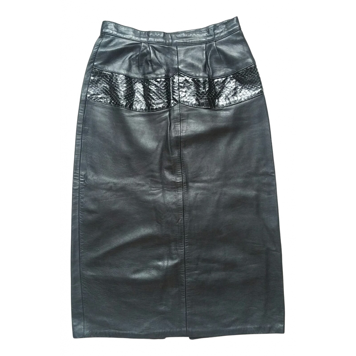 Non Signé / Unsigned N Black Exotic leathers skirt for Women 40 IT