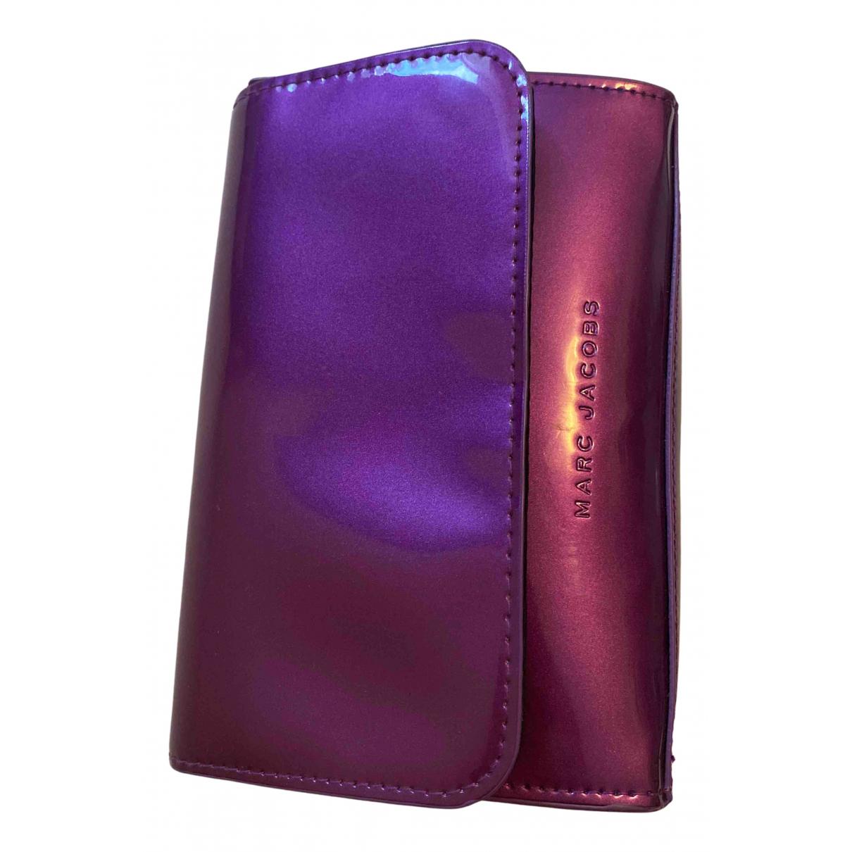 Marc Jacobs - Petite maroquinerie Snapshot pour femme en cuir verni - violet