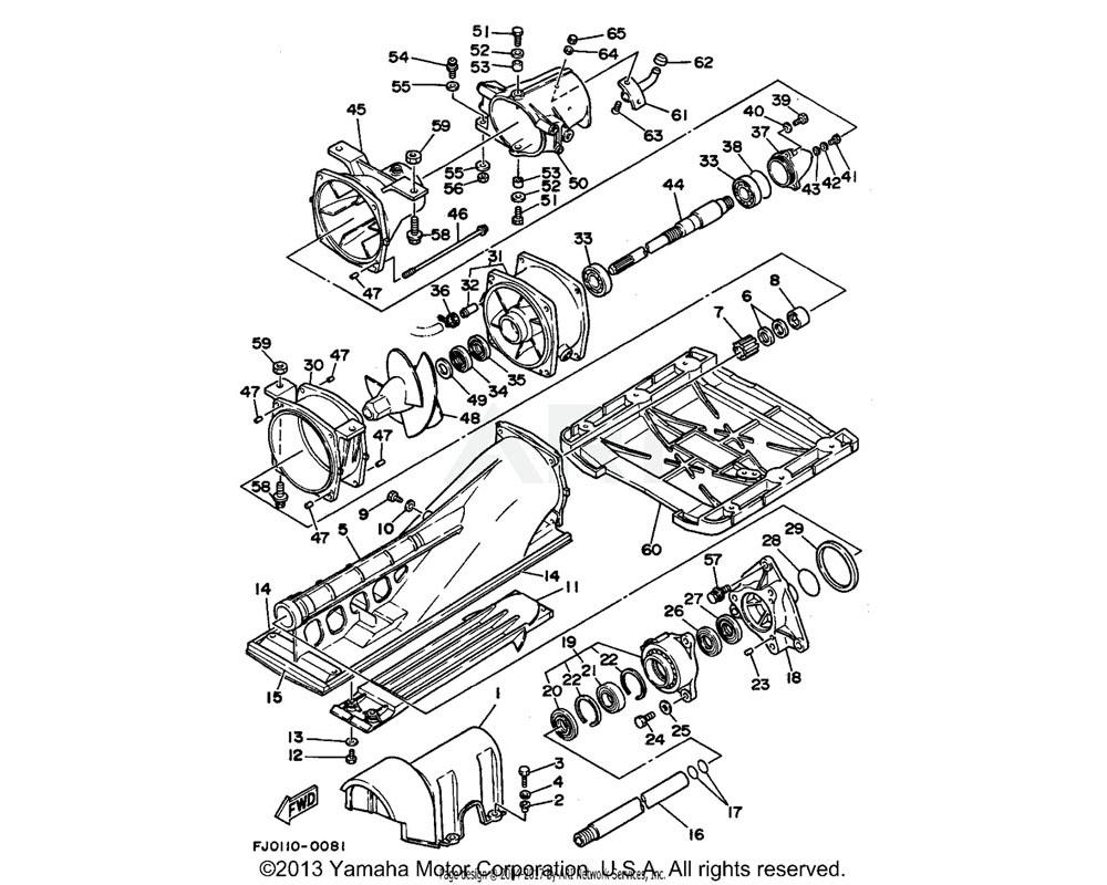 Yamaha OEM 6K8-45127-00-00 SEAL