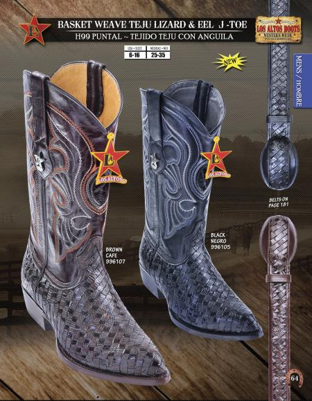 JToe Lizard and Eel Mens Western Cowboy Boots Diff.Colors/Sizes