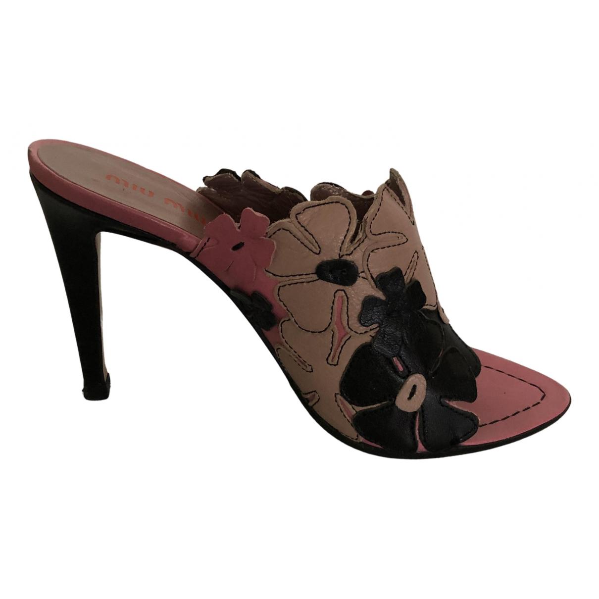 Miu Miu - Escarpins   pour femme en cuir - multicolore