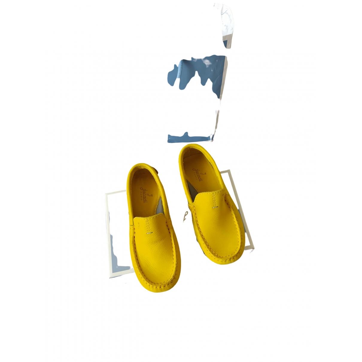 Jacadi \N Yellow Leather Flats for Kids 30 EU