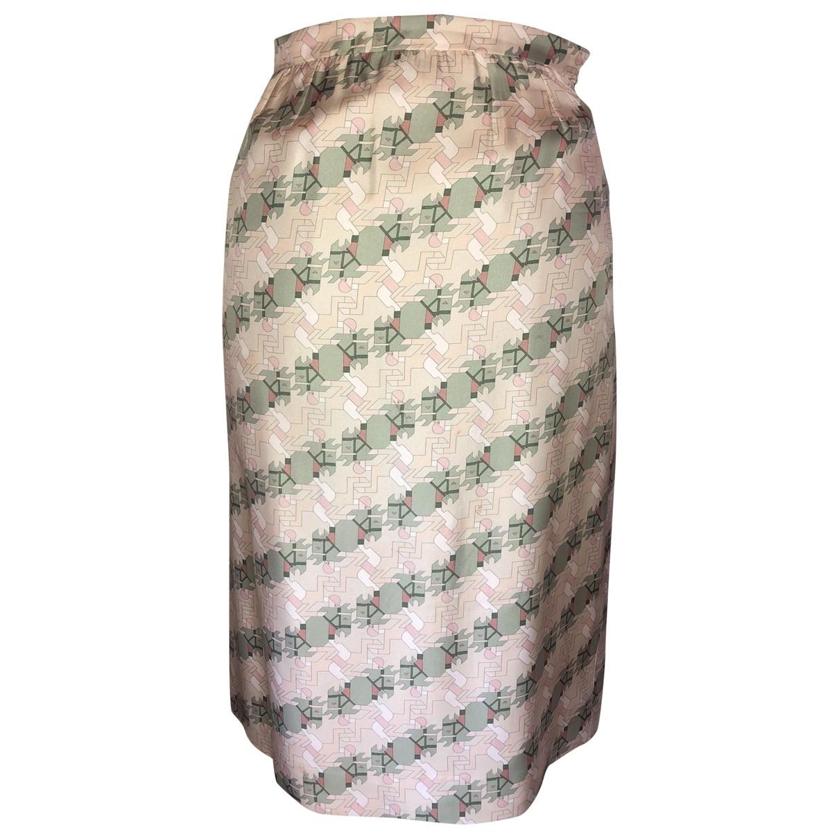 Hermes - Jupe   pour femme en soie - ecru