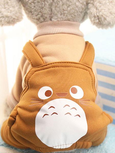 Milanoo Sueter de terciopelo coreano para mascotas Impresion de dibujos animados Ropa para mascotas