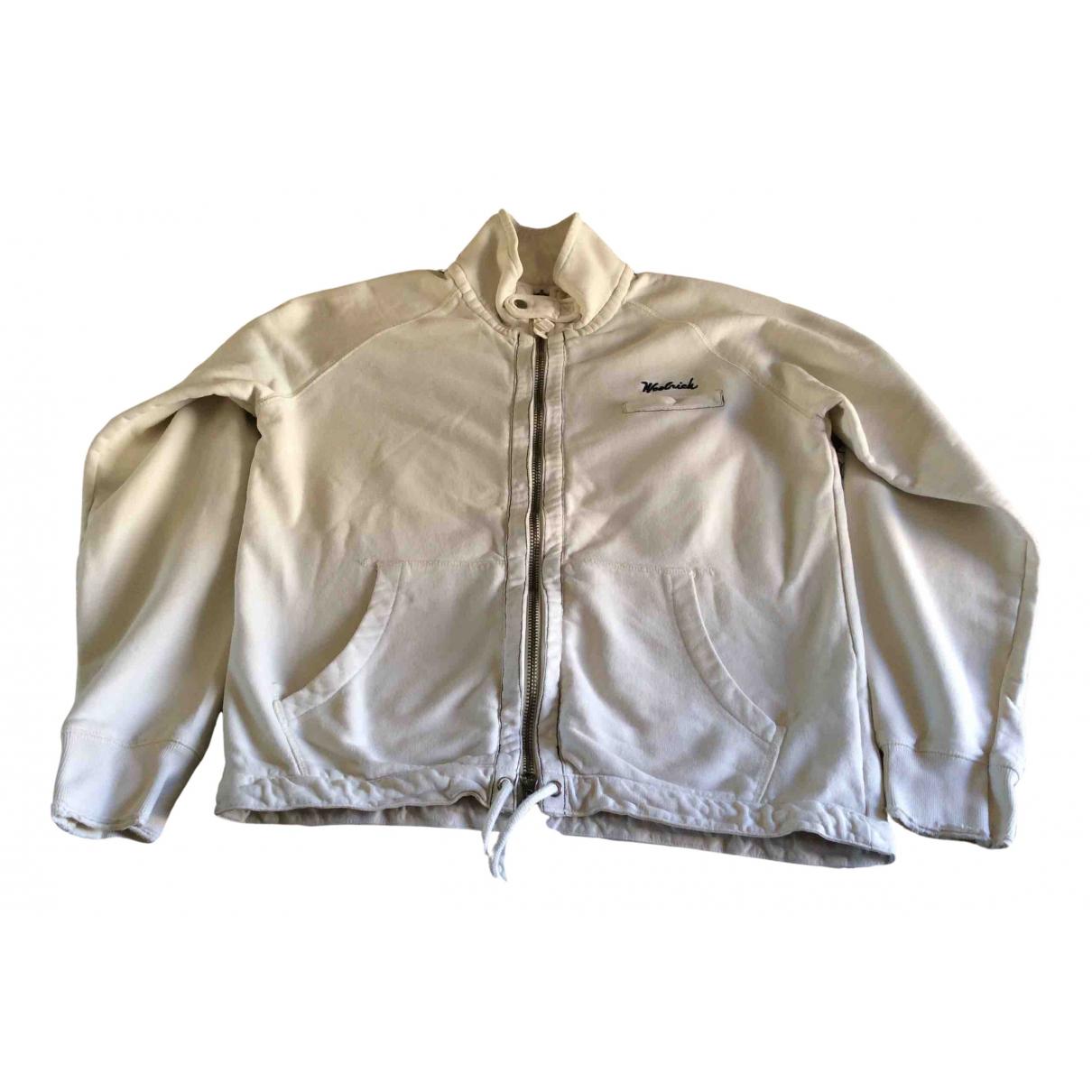 Woolrich - Pulls.Gilets.Sweats   pour homme en coton - blanc