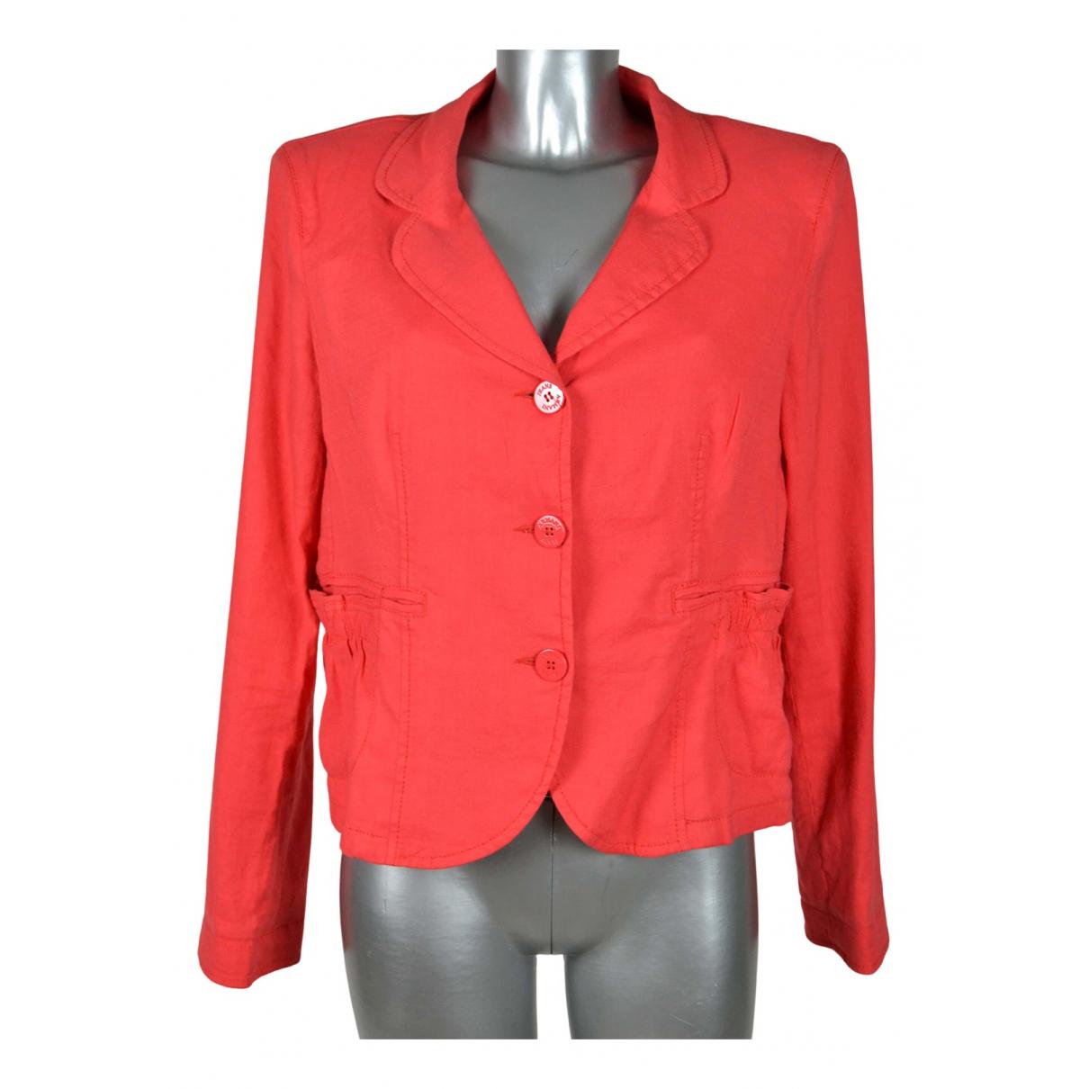 Armani Jean - Veste   pour femme en lin - rouge