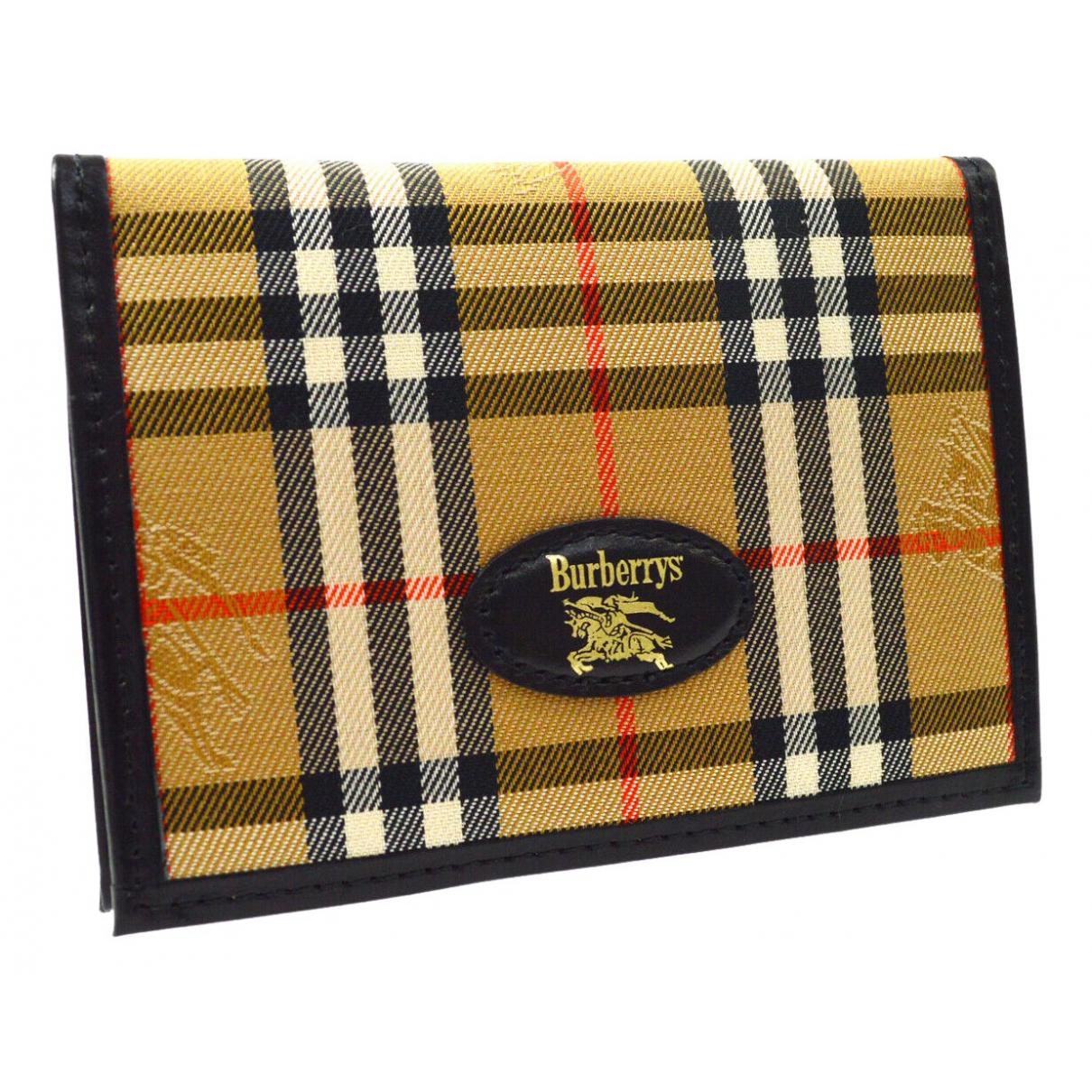 Burberry \N Brown Cloth wallet for Women \N