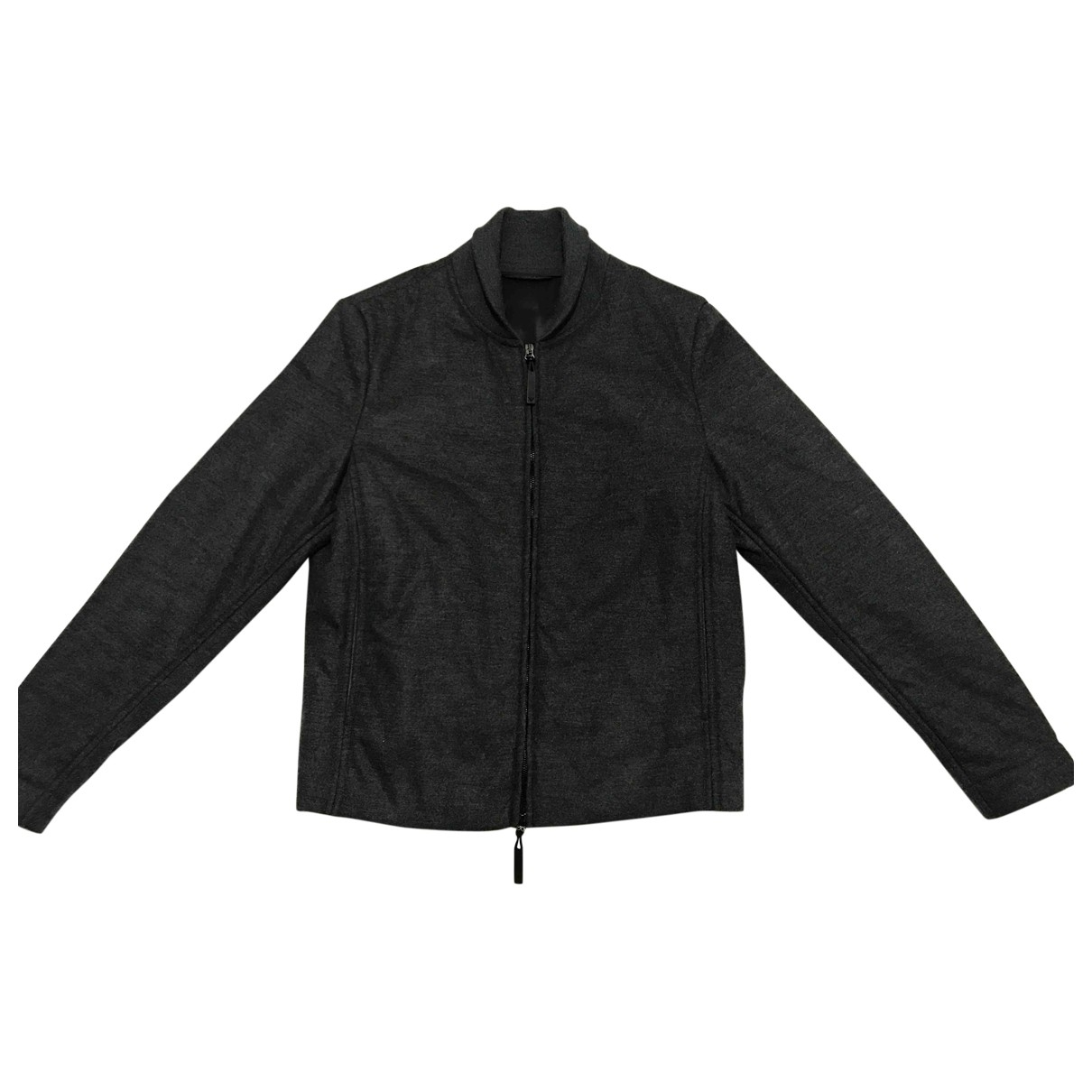 Emporio Armani \N Jacke in  Anthrazit Wolle