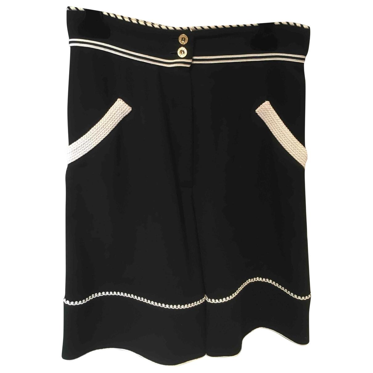 Chanel - Short   pour femme en coton - noir