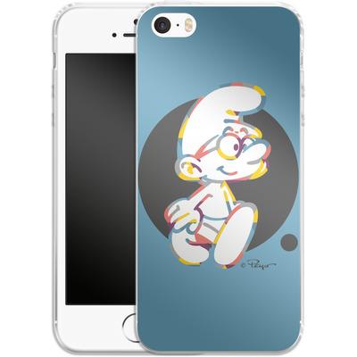 Apple iPhone 5 Silikon Handyhuelle - Rainbow Smurf von The Smurfs