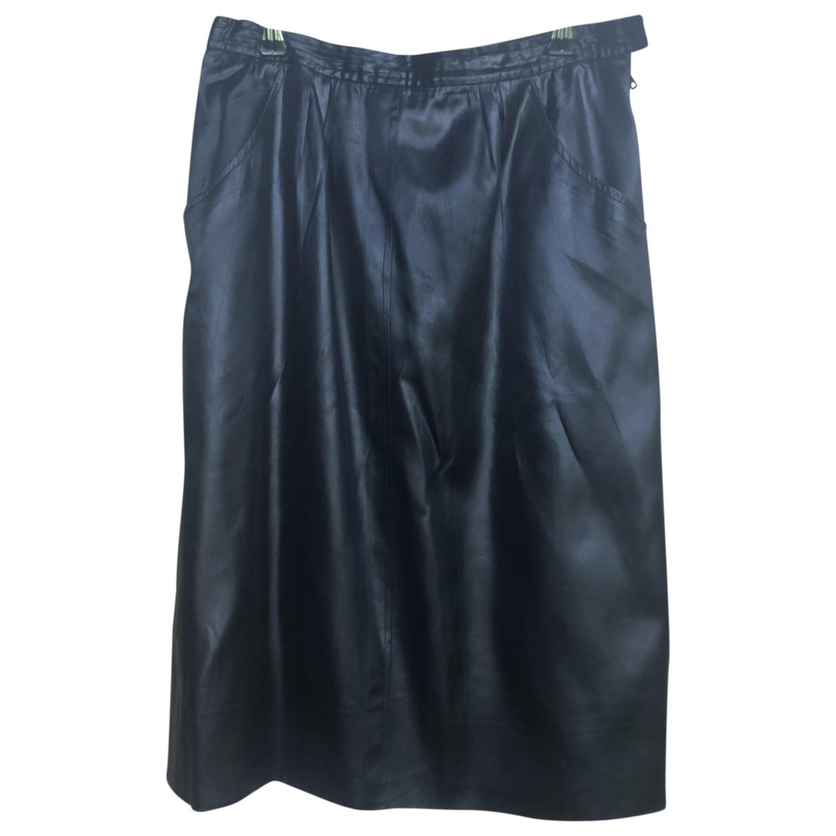 Yves Saint Laurent - Jupe   pour femme en soie - noir