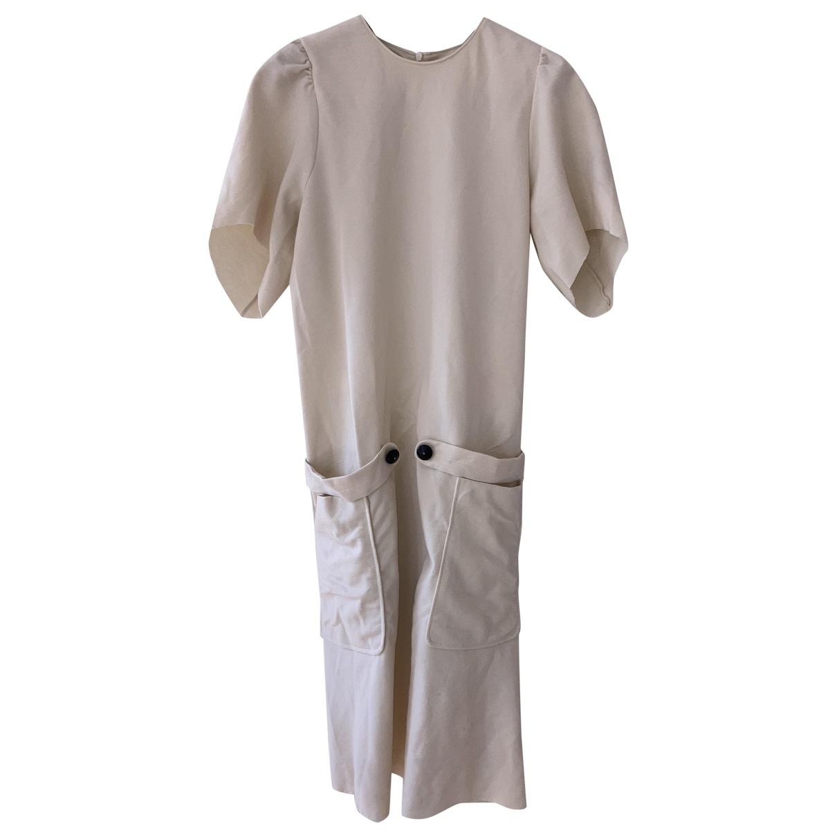 Yves Saint Laurent \N Kleid in  Weiss Wolle