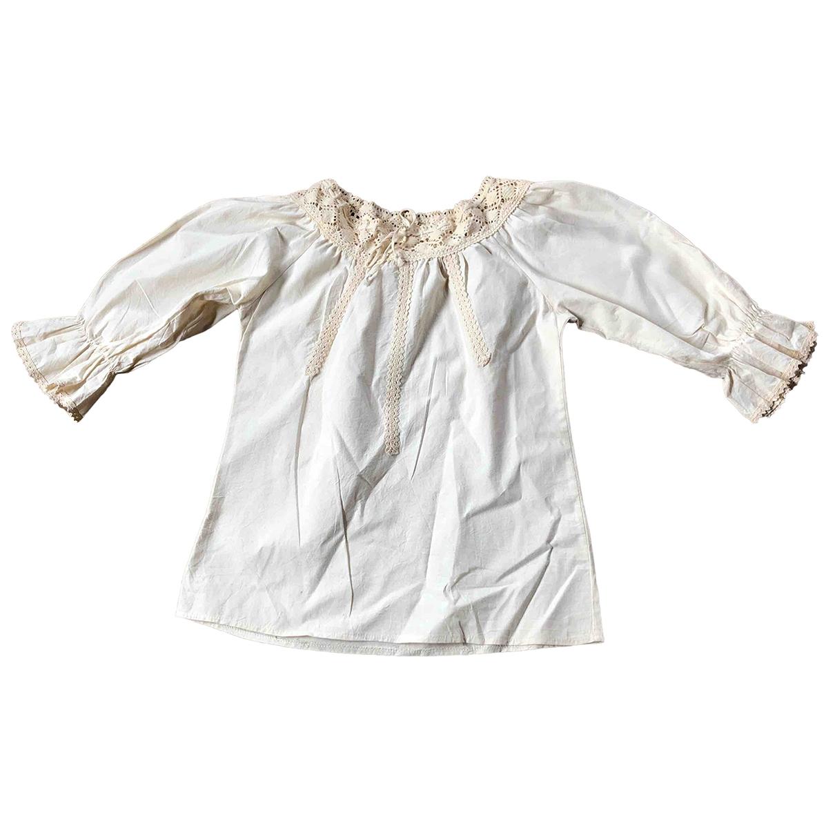Non Signé / Unsigned \N Ecru Cotton  top for Women 36 FR