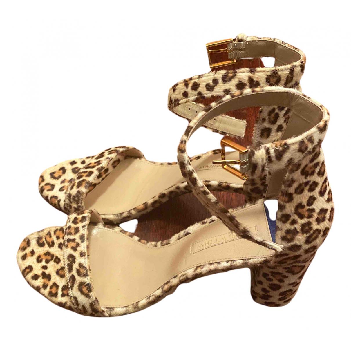 Stuart Weitzman N Multicolour Faux fur Heels for Women 38.5 EU