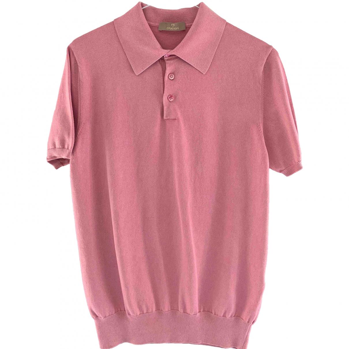 Cruciani \N Poloshirts in  Rosa Baumwolle