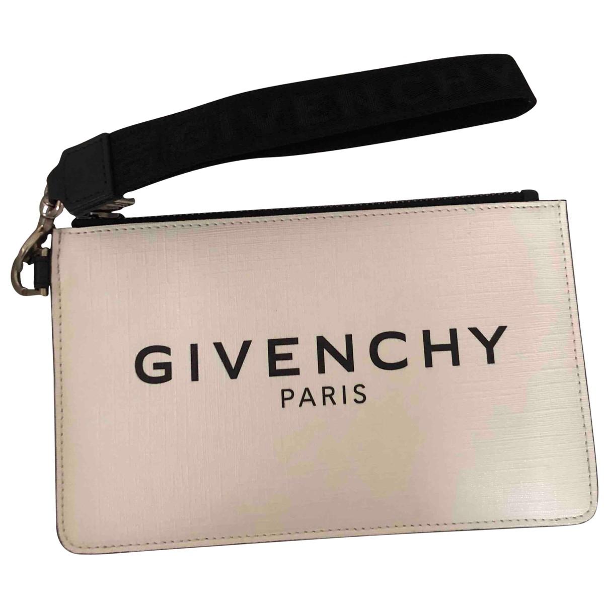 Givenchy - Petite maroquinerie   pour homme en cuir - blanc
