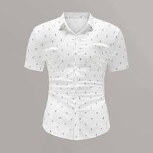 Men All Over Print Pocket Detail Shirt