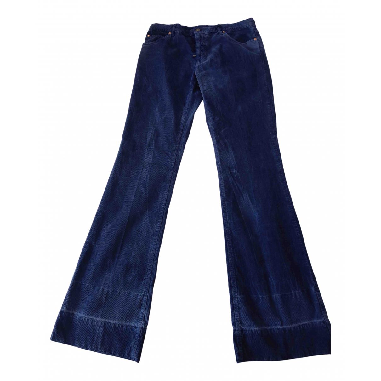 Gucci \N Blue Velvet Trousers for Men 30 UK - US
