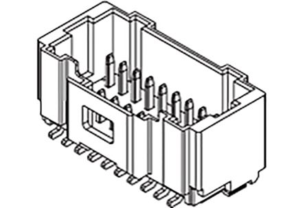 Molex , 501190, 30 Way, 2 Row, Vertical PCB Header (275)