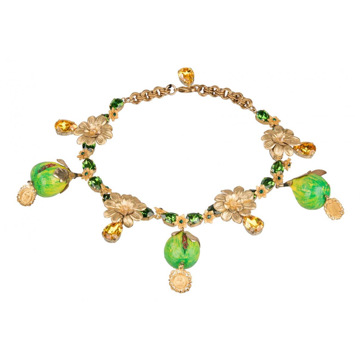 Dolce & Gabbana - Collier   pour femme en metal - vert