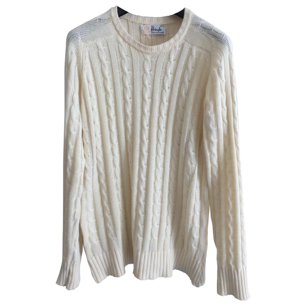 Pringle Of Scotland \N Pullover.Westen.Sweatshirts  in  Gelb Baumwolle