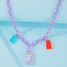 Halskette mit Baeren Anhaenger