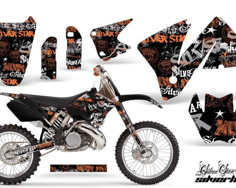 AMR Racing Dirt Bike Decal Graphic Kit Wrap For KTM EXC 200-520 MXC 200-300 2001-2002áSSSH ORANGE BLACK