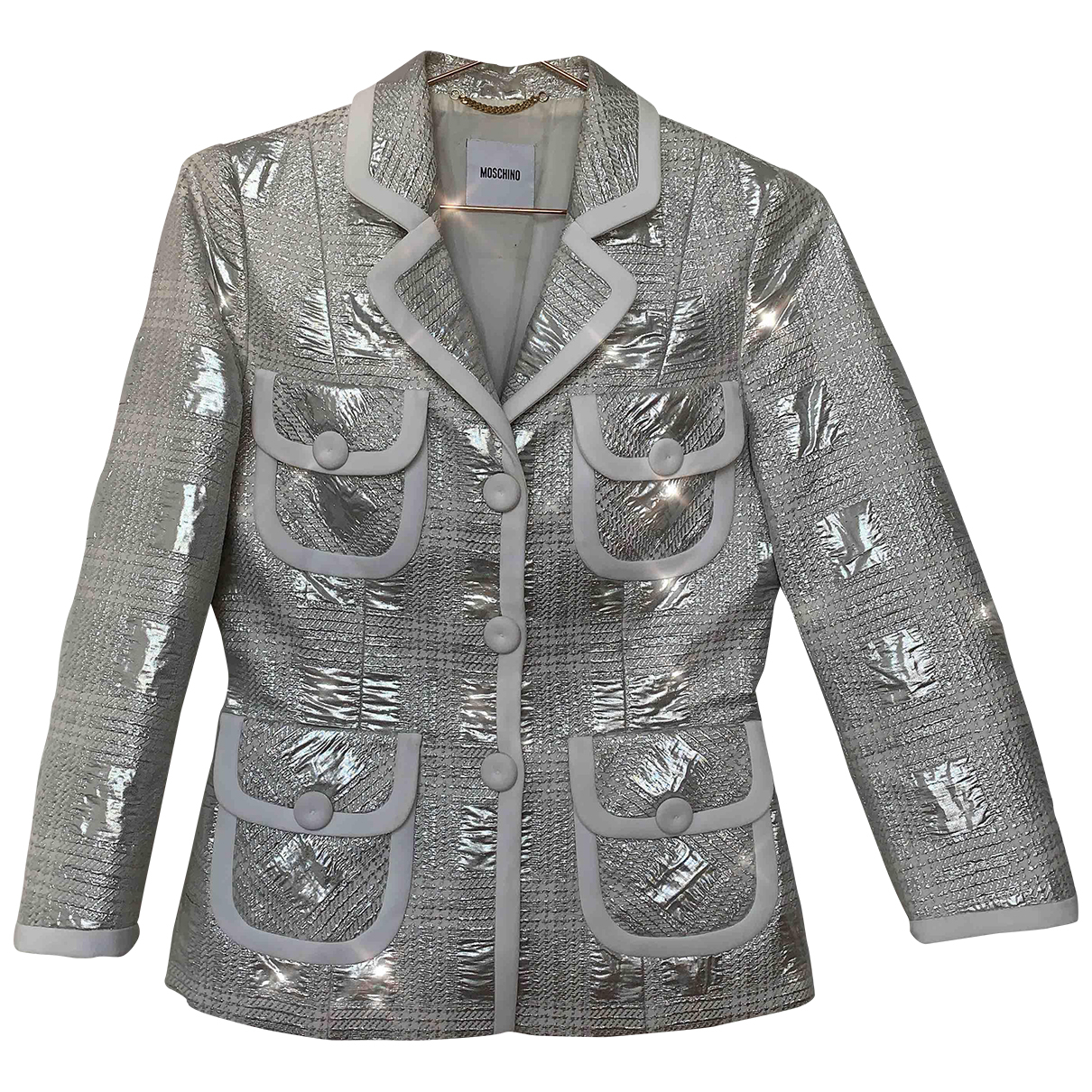 Moschino - Veste   pour femme - argente