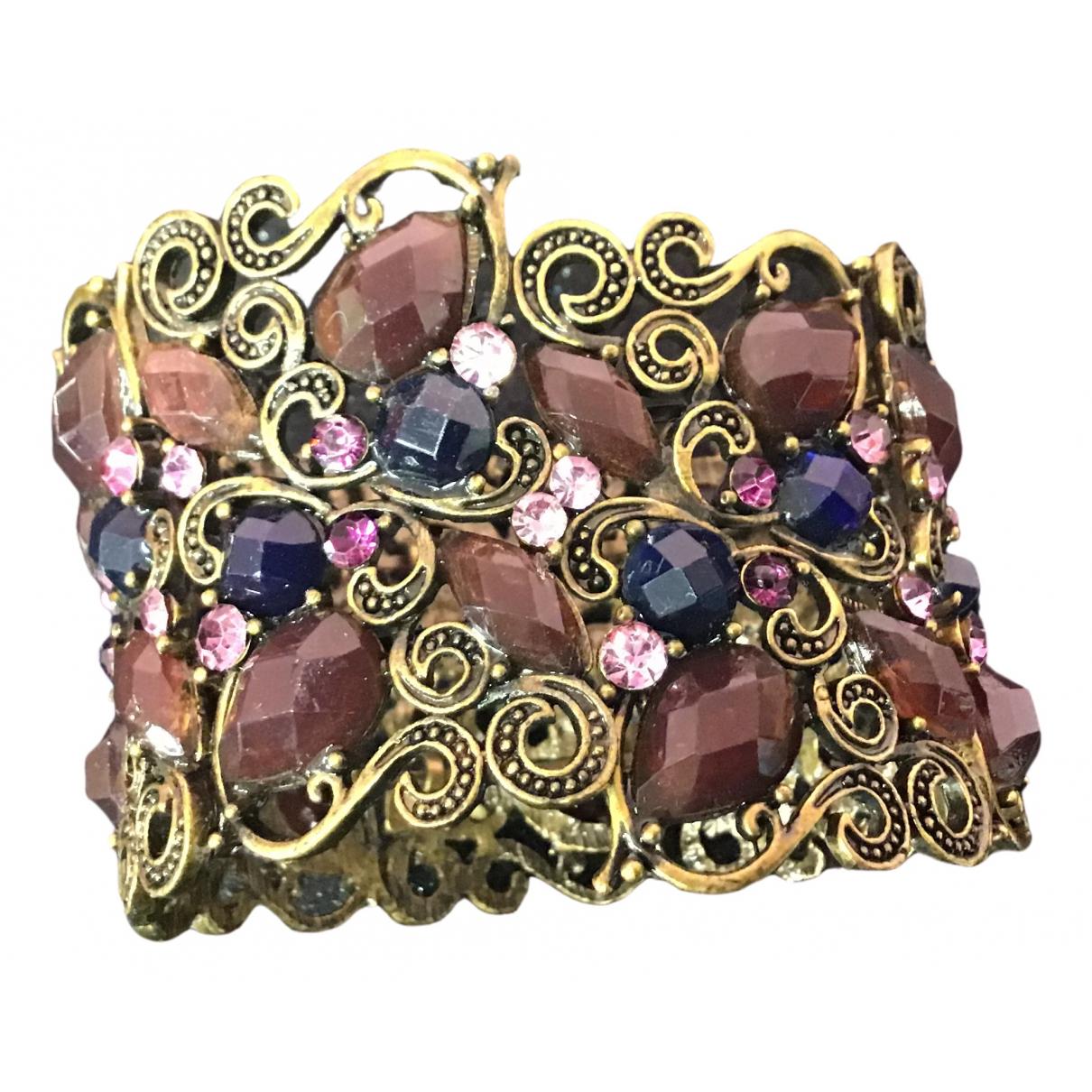 - Bracelet Manchette pour femme en soie - violet