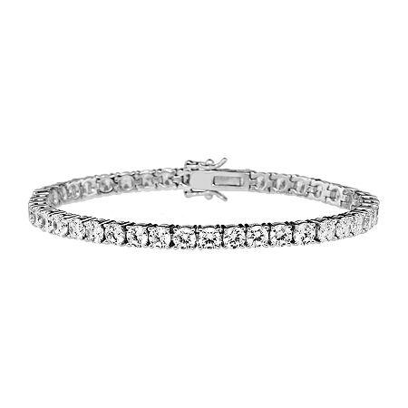 DiamonArt 11.34 CT. T.W. Cubic Zirconia Sterling Silver Bracelet, One Size , No Color Family