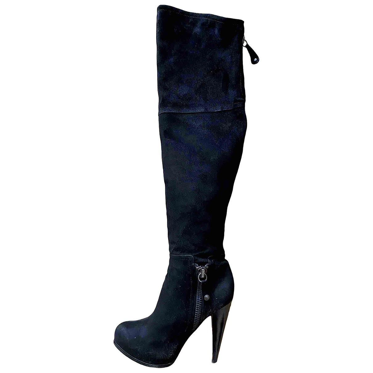 Guess \N Black Suede Boots for Women 38 IT