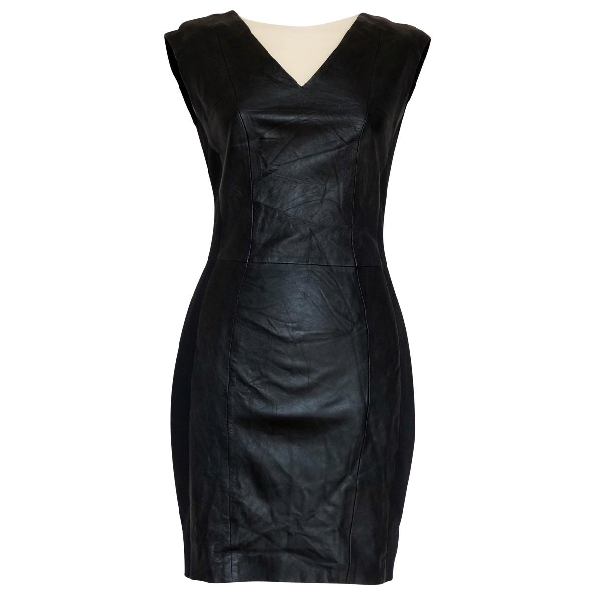 Stand Studio \N Kleid in  Schwarz Leder