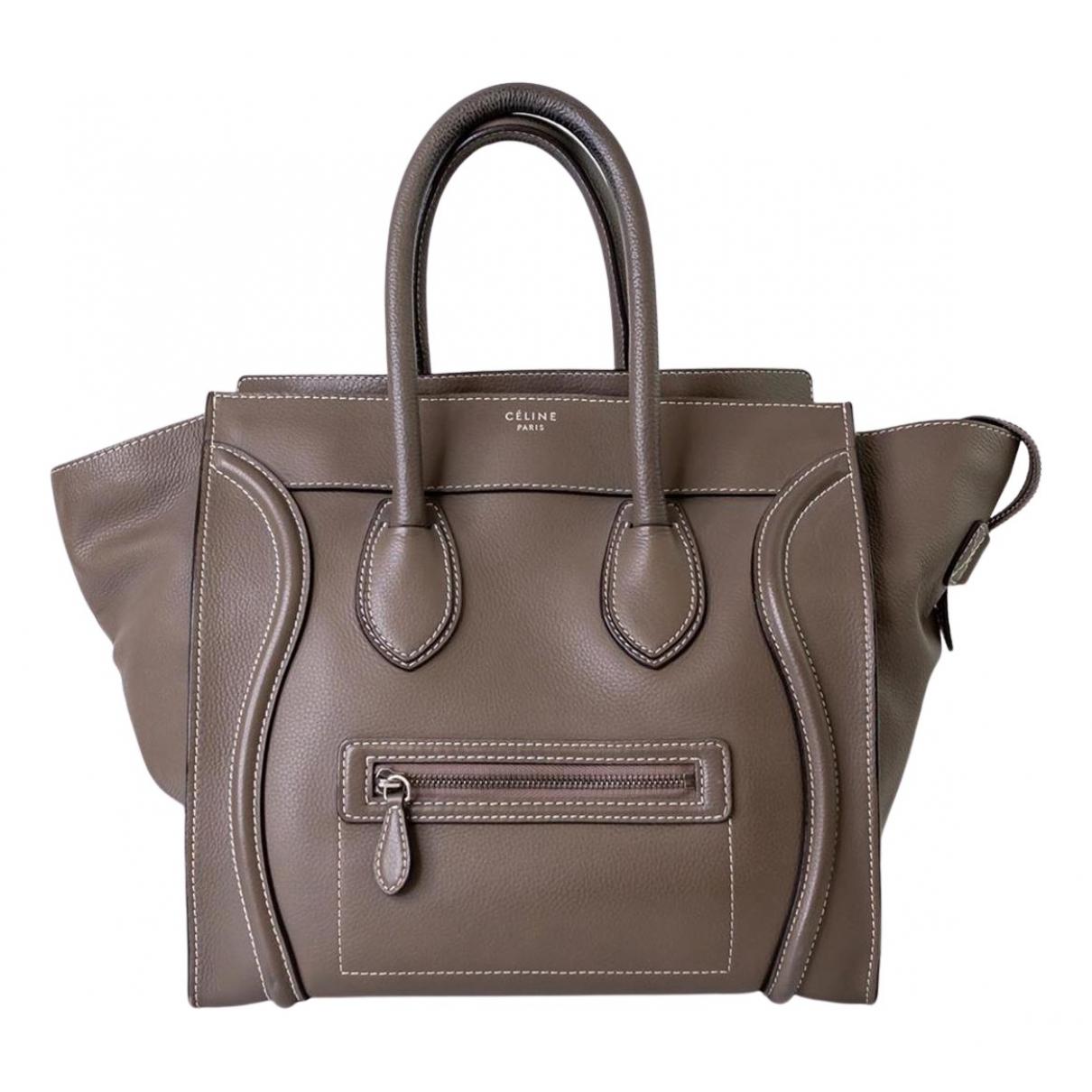 Celine Luggage Grey Leather handbag for Women N