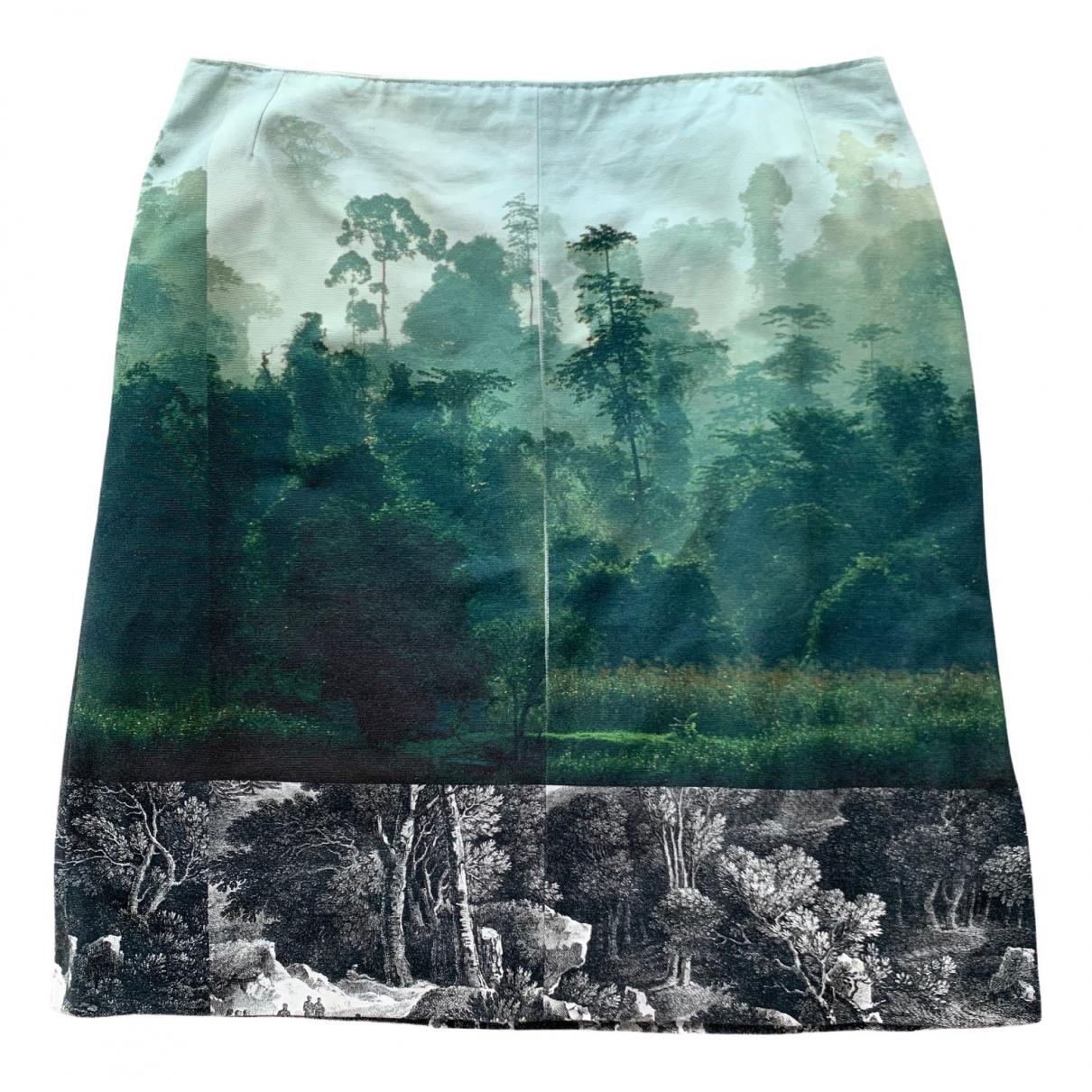 Dries Van Noten \N Green Cotton skirt for Women 44 FR
