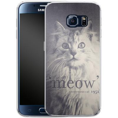 Samsung Galaxy S6 Silikon Handyhuelle - Famous Quote Cat von Florent Bodart